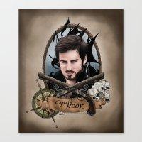 captain hook Canvas Prints featuring Captain Hook by artbymurrl