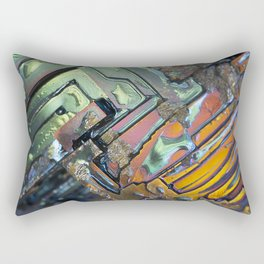 Colorful Geometric Shapes Rectangular Pillow