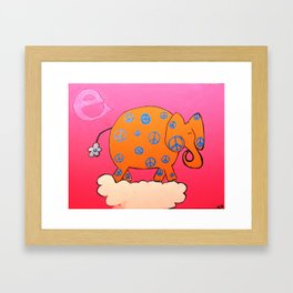 'E' is for Elephant of Peace Framed Art Print