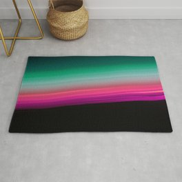 Teal Green Pink Fuchsia Ombre Gradient Rug