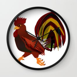 Feathery Noisemaker Wall Clock