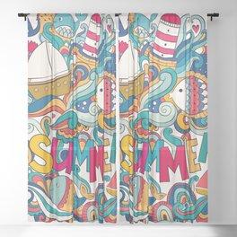 Summer Logo Sheer Curtain
