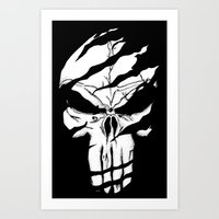 punisher Art Prints featuring Punisher by Spectral stories