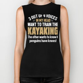 Kayaking Lover Voices In My Head  Biker Tank