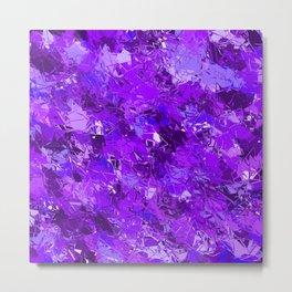 Fractured Blue-Violet Texture Metal Print