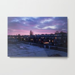 Groningen Sunset, The Netherlands Metal Print