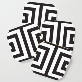 Black Greek Stripes Coaster