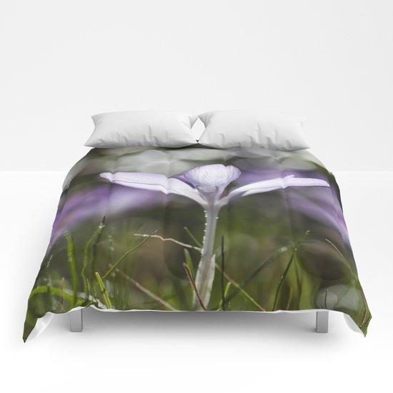Blue Spring Flower  Crocus - Floral Comforters