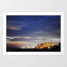 night time beach Art Print