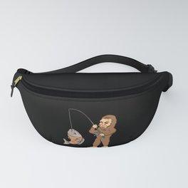 Fishing & Yeti Design: Bigfoot Carrying Fish Fanny Pack