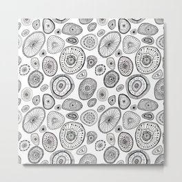 Black and White Eggs Metal Print