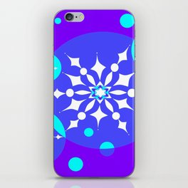 A Winter Snowy Design with Pretty Snowflakes iPhone Skin