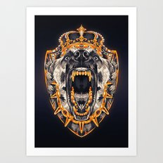 Royal Barking Highness Art Print