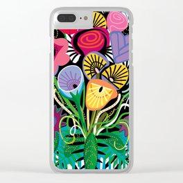 Flamenco Tequila Floral Arrangement Clear iPhone Case