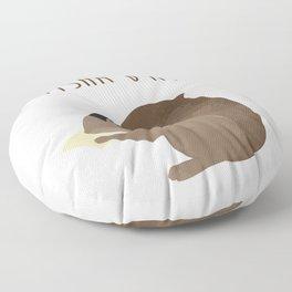 Tisha B'av Squirrel and Book of Lamentations Floor Pillow