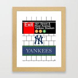 NYC Yankees Subway Framed Art Print