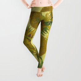 Sunflowers by Vincent van Gogh Leggings