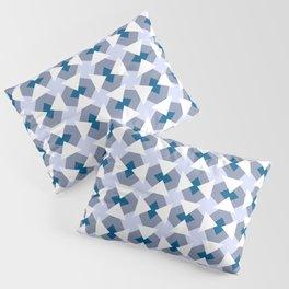 Geometric pattern Fake it until you'll make it, blue Pillow Sham