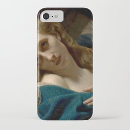 Hugues Merle - Mary Magdalene in the Cave iPhone Case