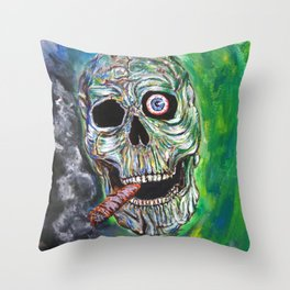 Smoking Kills Throw Pillow