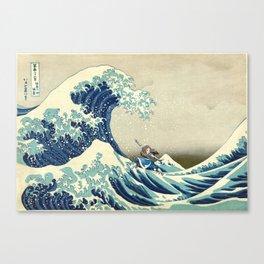 Katara Riding the Wave Canvas Print