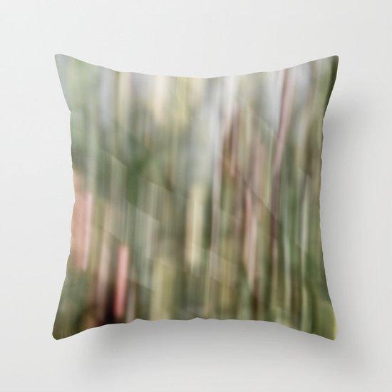 autumn blur Throw Pillow