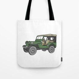 SUV. All-wheel off-road car. Tote Bag