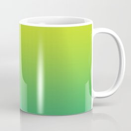 Meadowlark, Lime Punch, Arcadia Blurred Minimal Gradient | Pantone colors of the year 2018 Coffee Mug