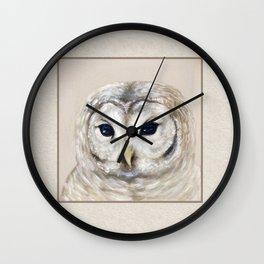 Barred Owl Wall Clock