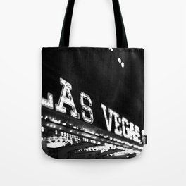 Vintage Las Vegas Sign - Black and White Photography Tote Bag