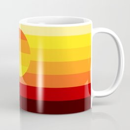 Sunset Stripe Coffee Mug