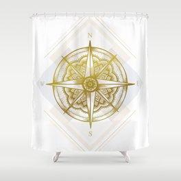 Golden Compass Shower Curtain