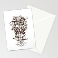 Don't get Stressed. Do get Desserts. Stationery Cards