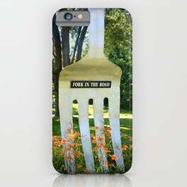 Fork in the Road iPhone Case