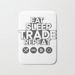 Eat sleep trade - BITCOIN Bath Mat