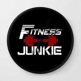 Fitness Junkie Wall Clock
