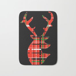 Plaid Xmas Deer Bath Mat