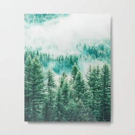 Forest + Fog #photography #nature Metal Print