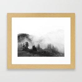 in the mountain mist Framed Art Print