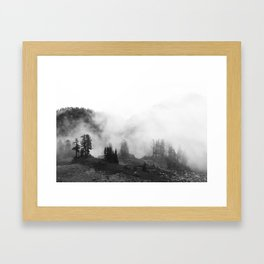 in the mountain mist Framed Art Print
