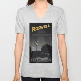 Aliens Over Roswell Unisex V-Neck