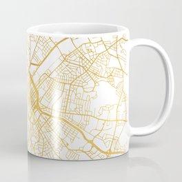 CHARLOTTE NORTH CAROLINA CITY STREET MAP ART Coffee Mug