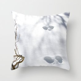 Tracks in the Snow - Rocky Mountain National Park Throw Pillow