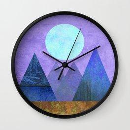 Take Me Away, Mountains, Full Moon Wall Clock