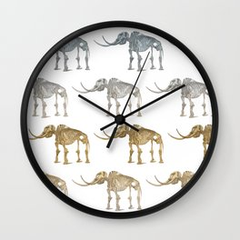 Mastodon skeleton - pattern Wall Clock