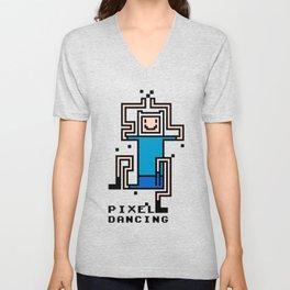 Pixel dancing Unisex V-Neck