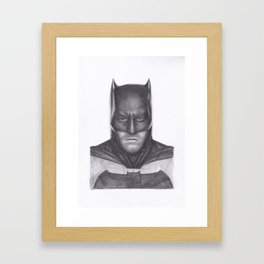 Ben Affleck Bat man Framed Art Print