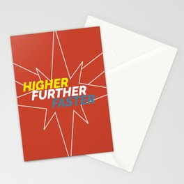 higher further faster Stationery Cards