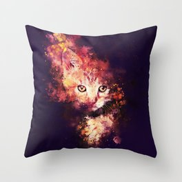 abstract young cat wsstd Throw Pillow