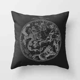 The Constellations - Dark Throw Pillow